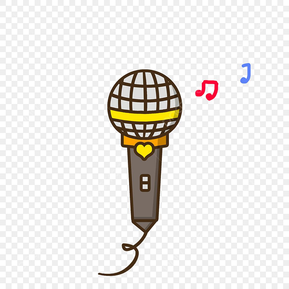 Festival De Música Dibujos Animados Instrumento Micrófono
