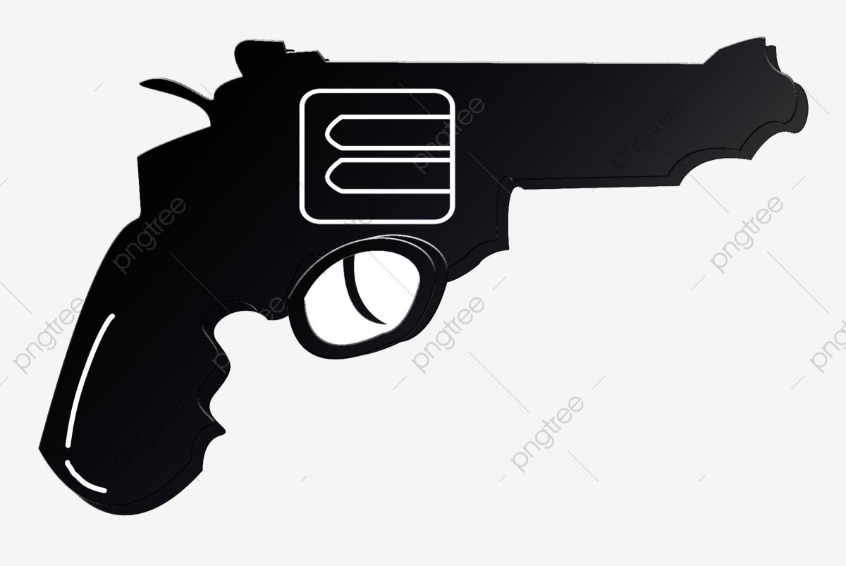 Pistola Dos Desenhos Animados Arma De Fogo Preta Arma Militar