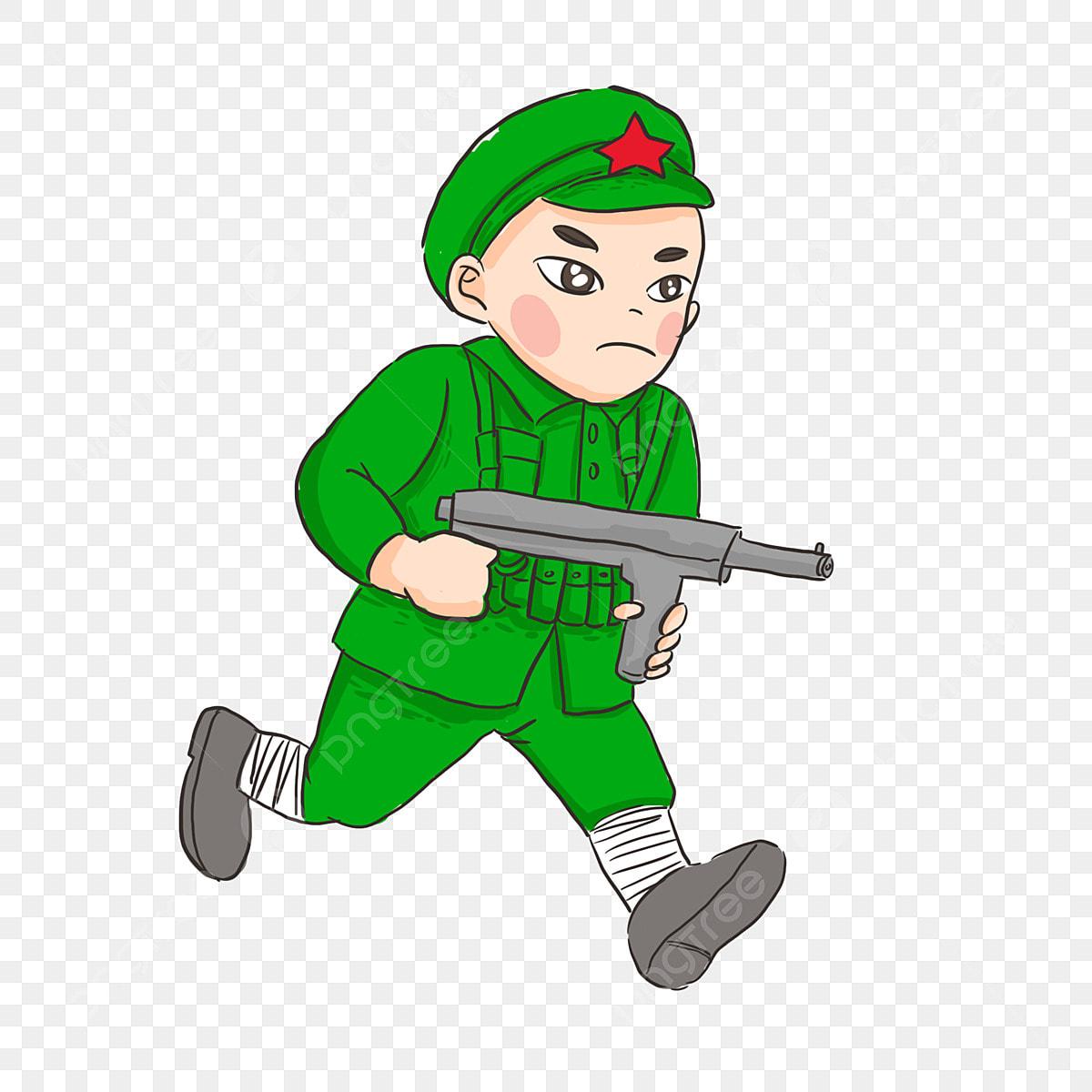Gambar Warrior Tentera Merah Kartun Dengan Senapang Submachine Berjalan Memegang Senapan Submachine Berjalan Ke Hadapan Pahlawan Tentera Merah Png Dan Psd Untuk Muat Turun Percuma