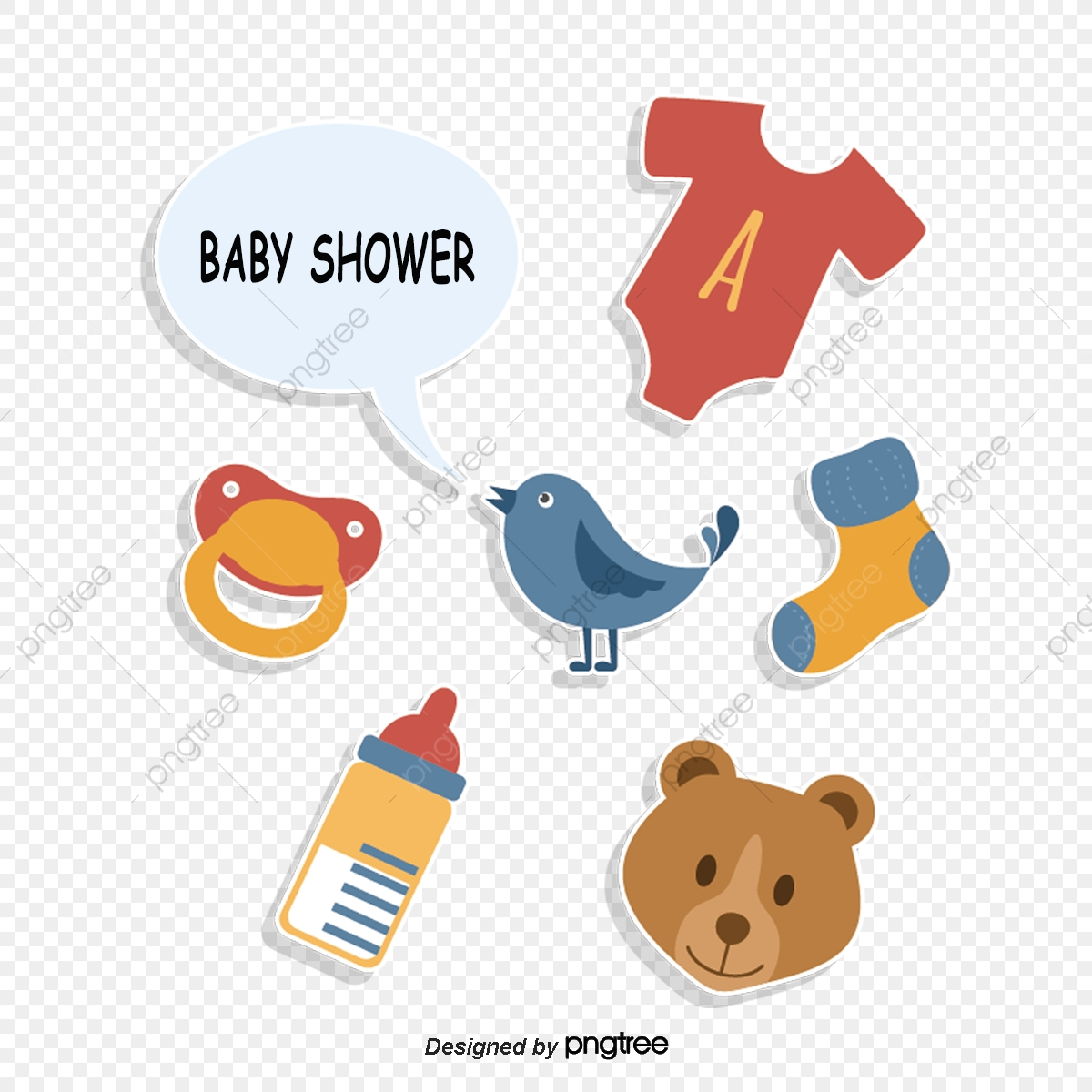 Cartoon Retro Baby Shower Decoration Cartoon Lovely Toys Png Transparent Clipart Image And Psd File For Free Download