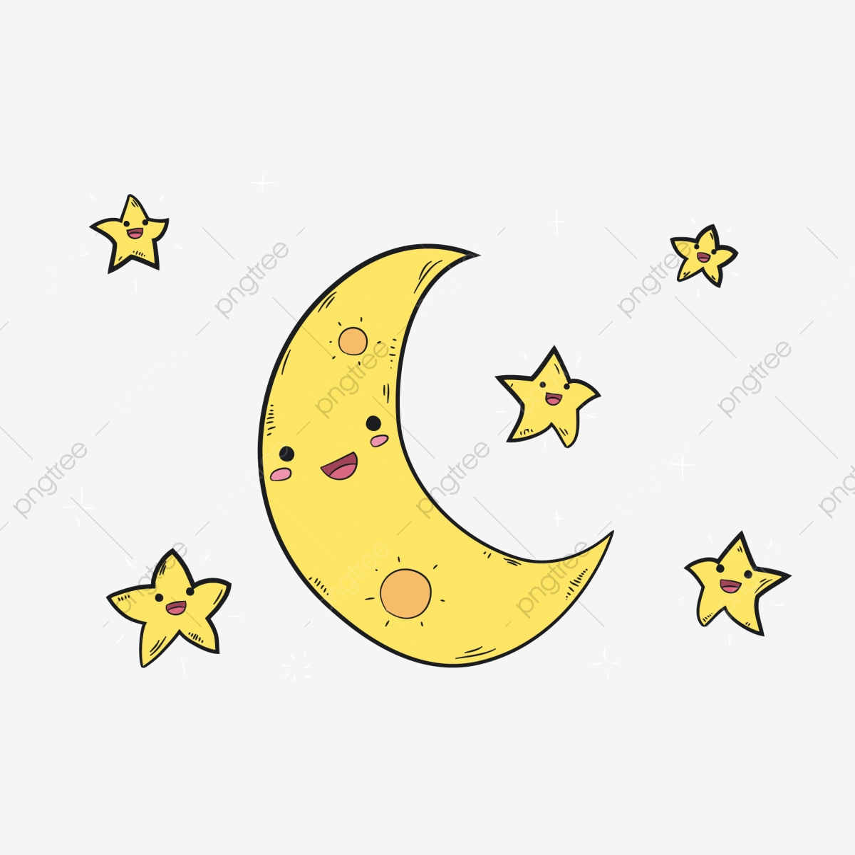 Cartoon Stars Cartoon Moon Cute Stars Lovely Moon, Cartoon ...
