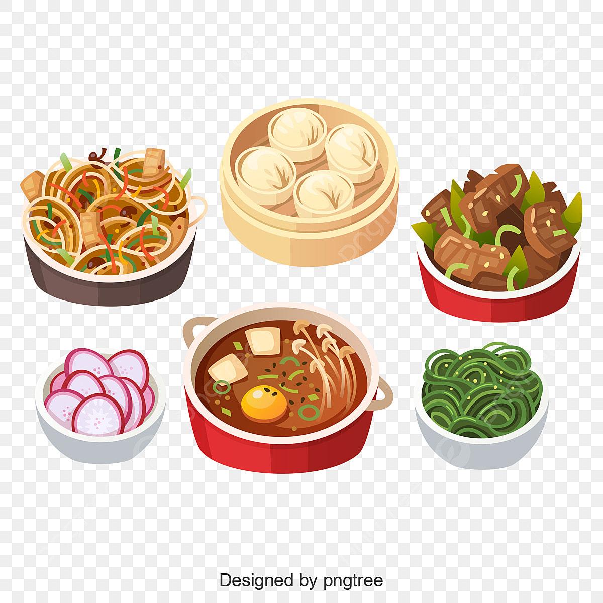 Kartun Tradisional Cina Makanan Kartun Kartun Vektor Makanan