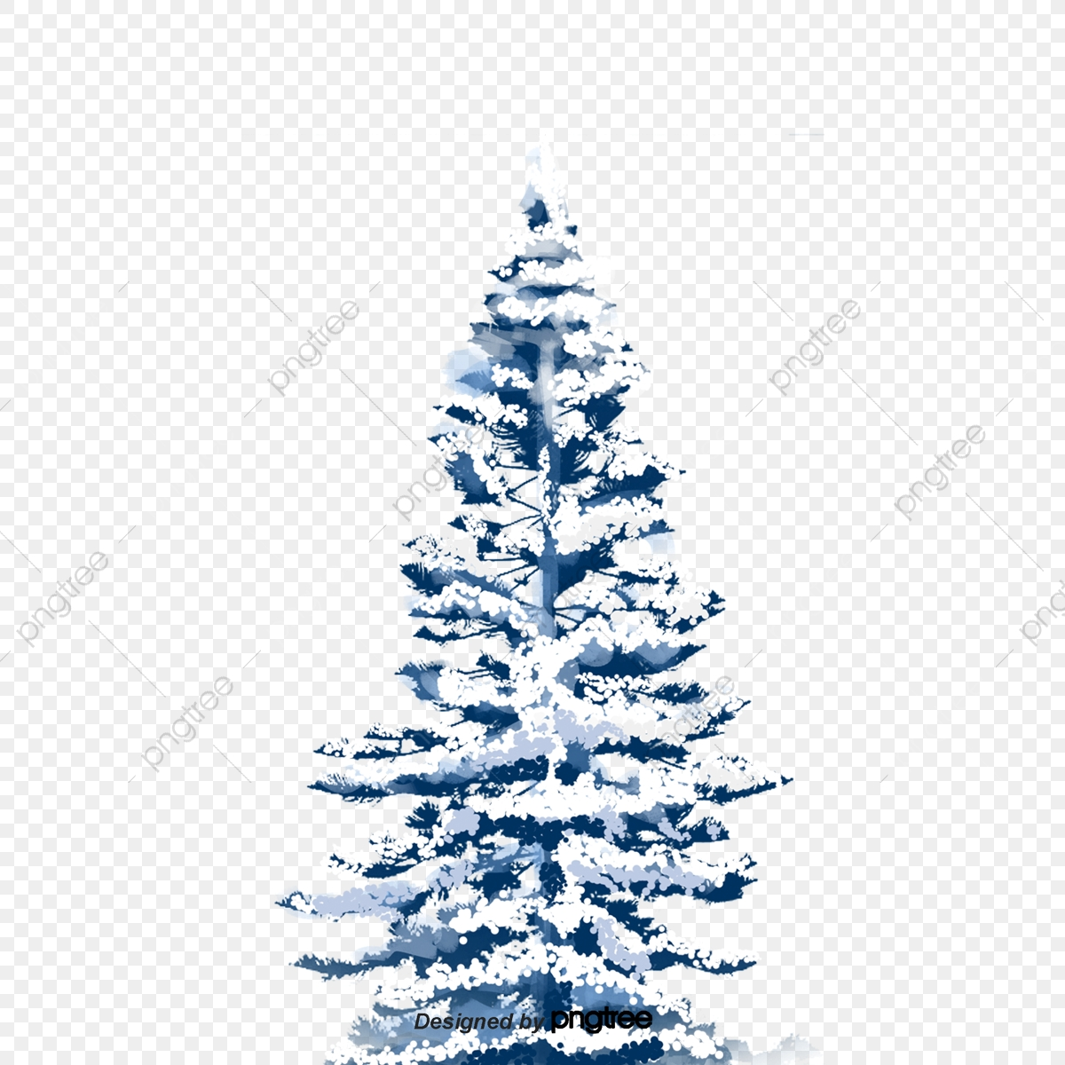 Free Png Snowy Winter Ground With Trees Png - Snowy Winter Trees Clipart,  Transparent Png - vhv