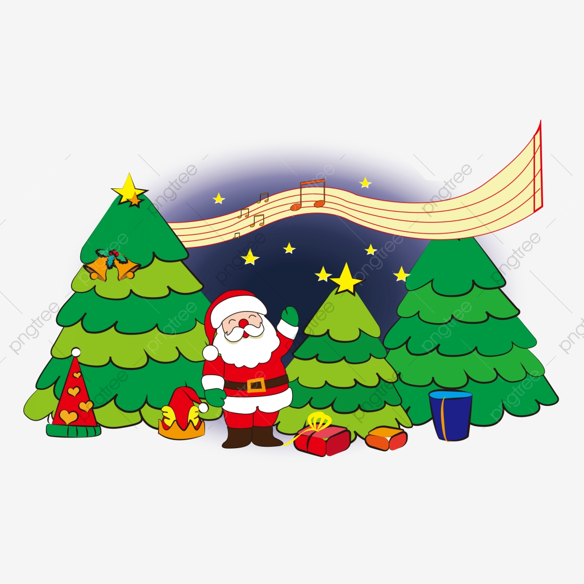 Santa Claus Material, Christmas, Scenes