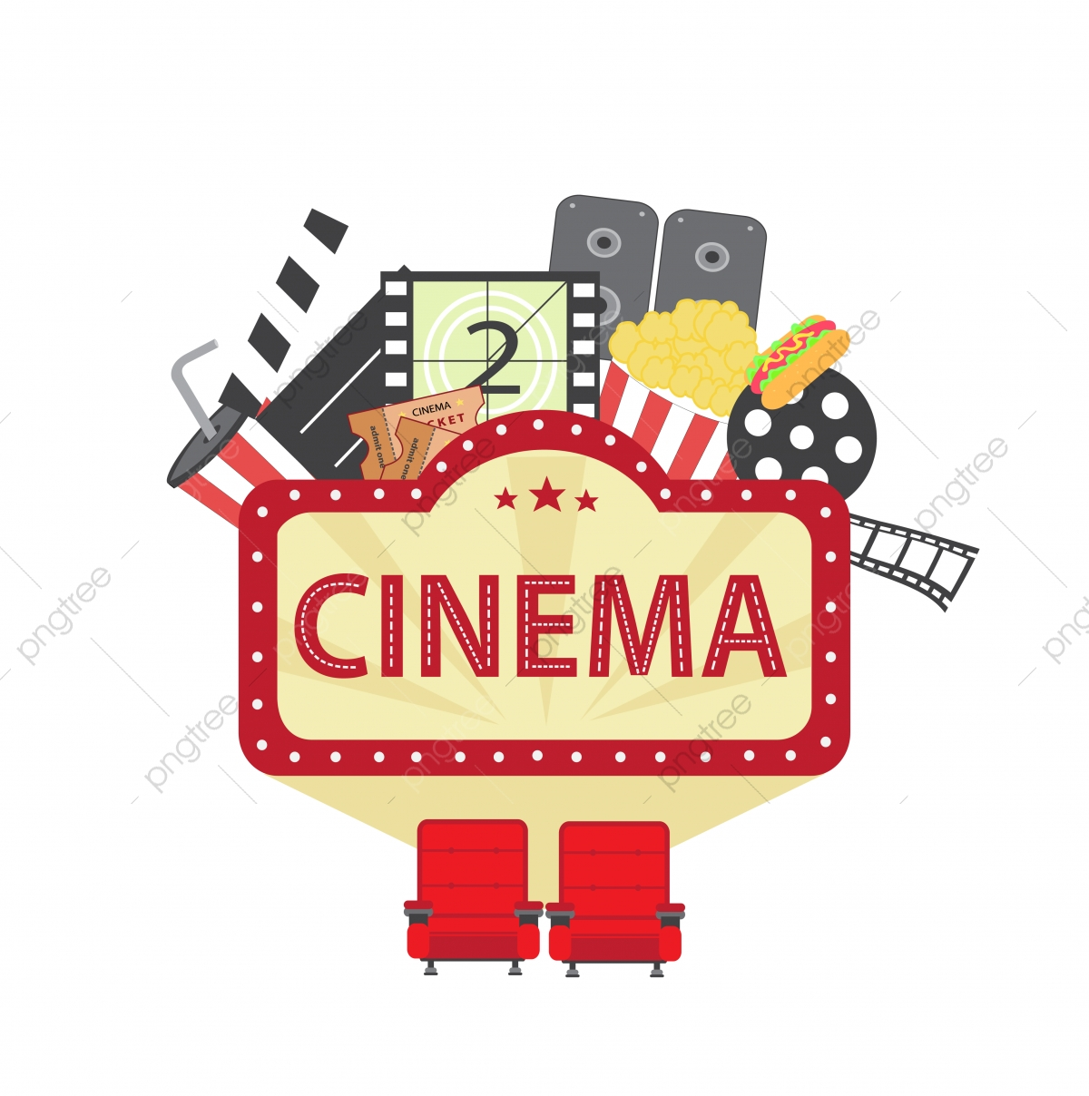 Cinema Vector Illustration Icon Cinema Poster Vector Png And
