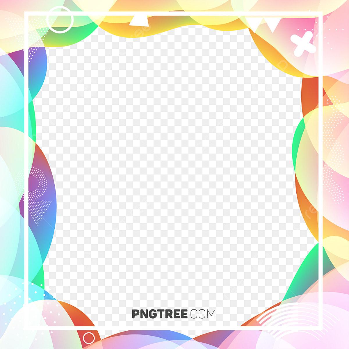 Colorful Geometry Abstract Fluid Border Geometric Geometry