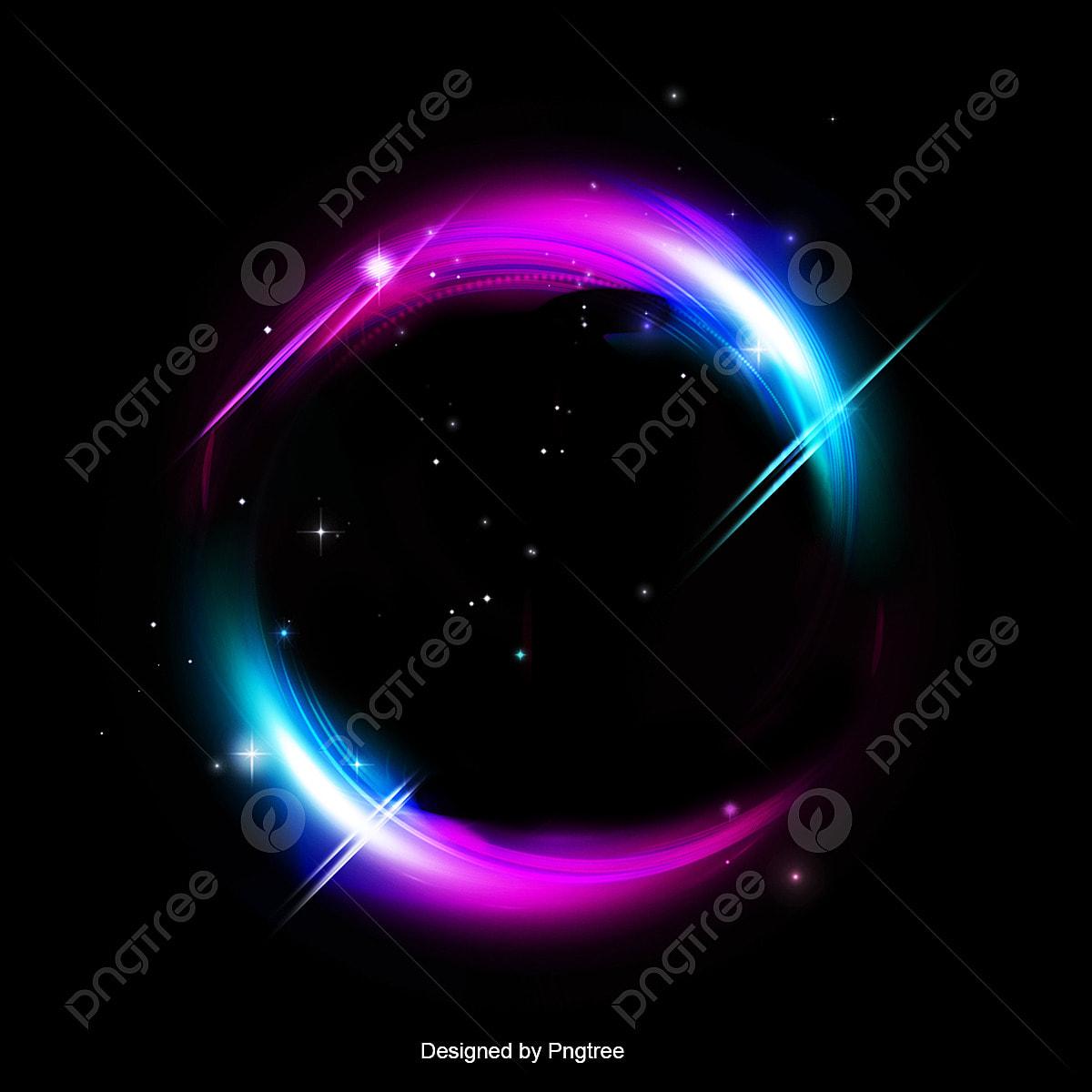 Hiệu ứng ánh Sáng Dưới Nền Màu đen Xinh đẹp Nổi Bật