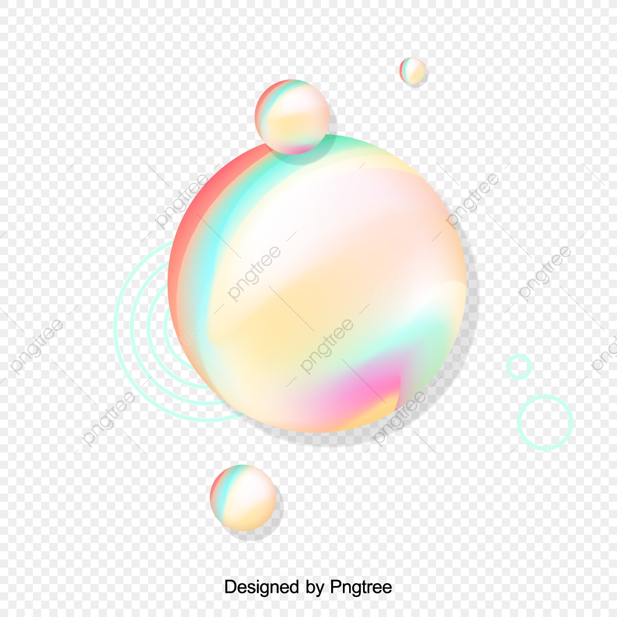 Colorful Spherical Geometric Vector, Spherical Vector