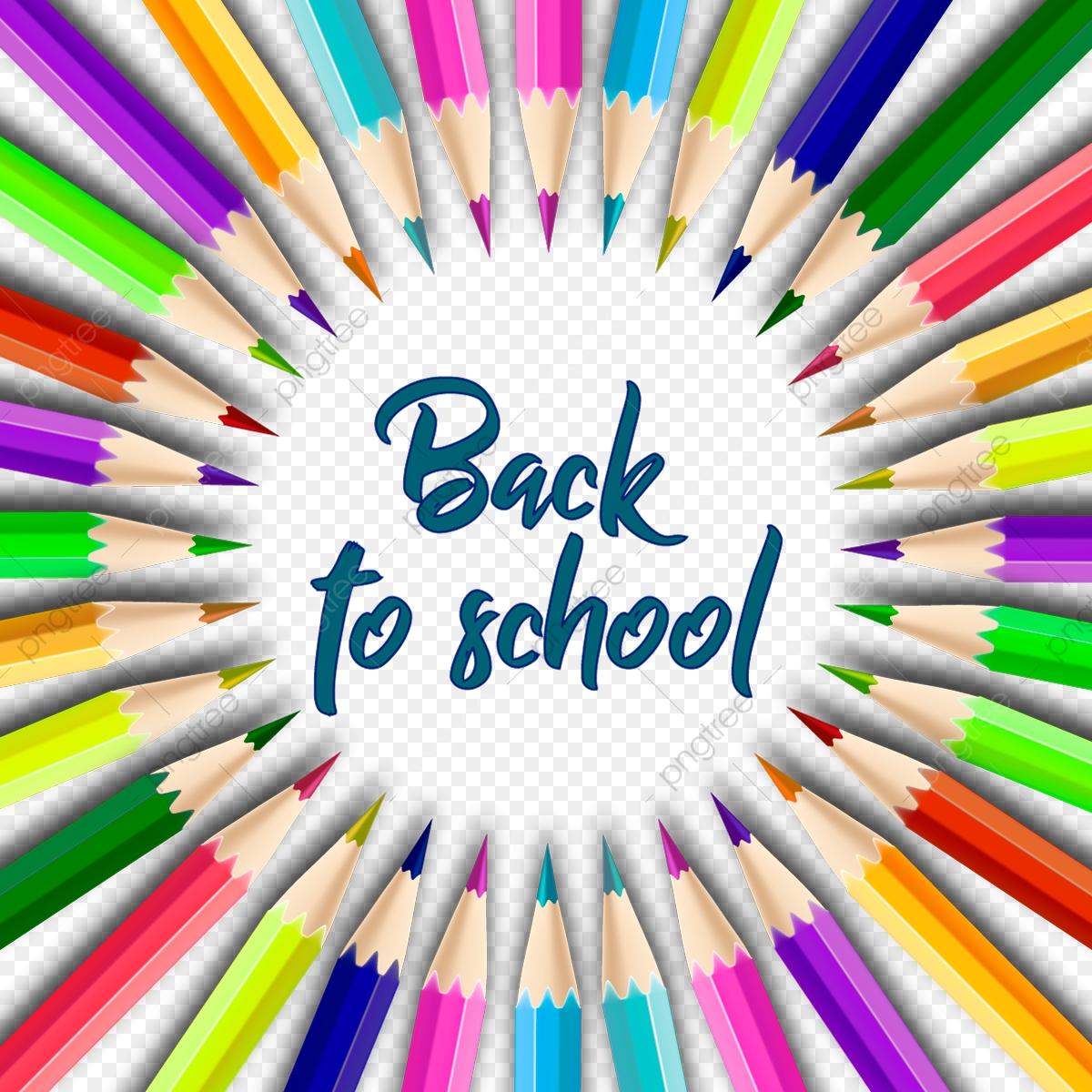 Bút Chì Màu Quay Trở Lại Trường Cây Bút Chì Các Vector