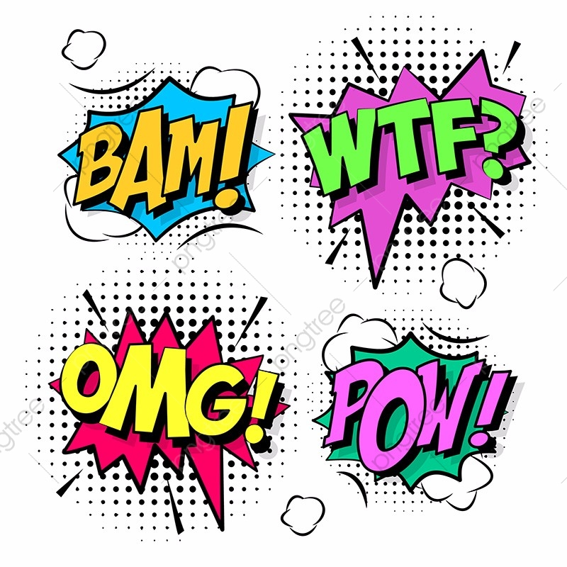 Comic Design Elements, Cartoon, Comic, Shapes PNG and Vector with