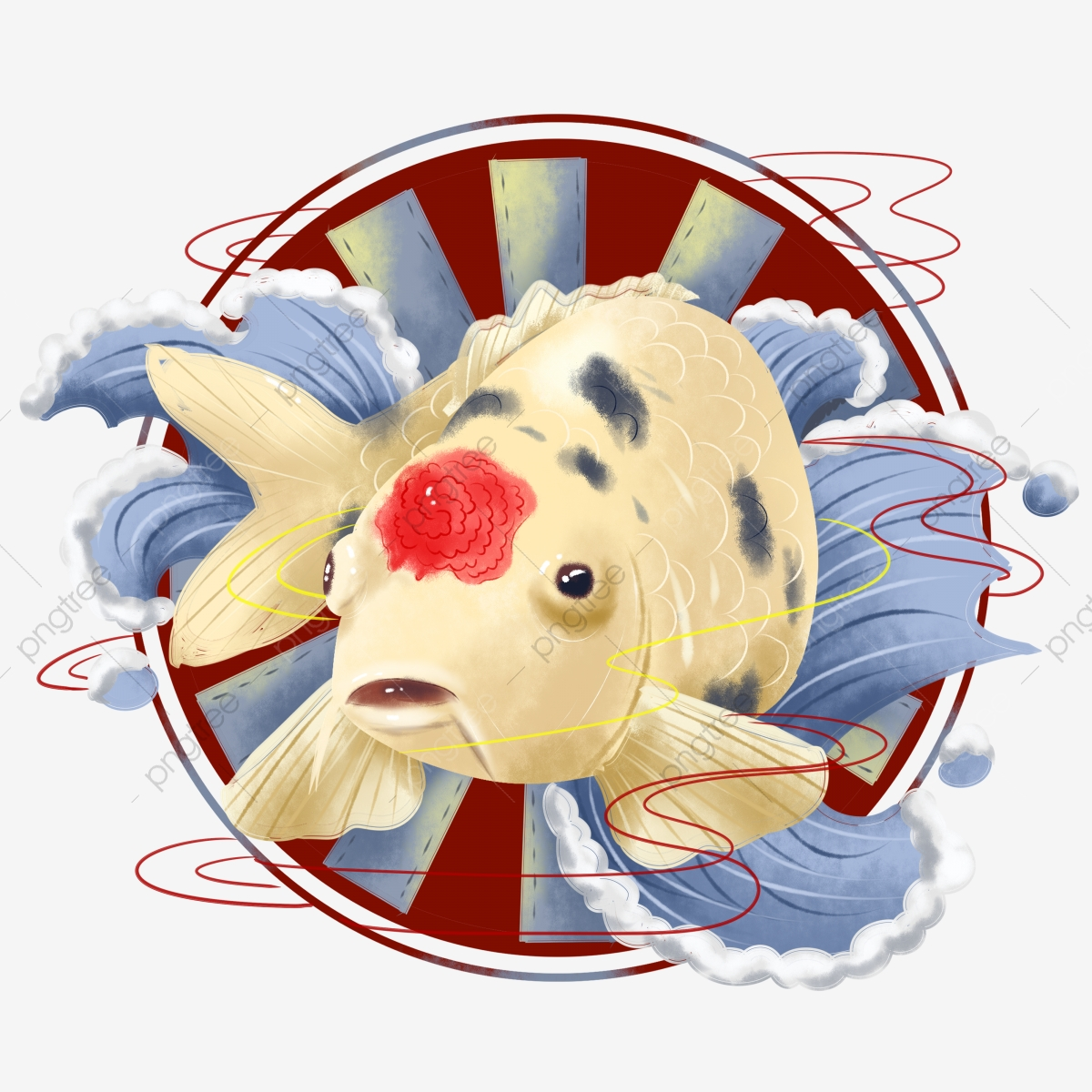 45 Traditional Japanese Koi Fish Tattoo Meaning Designs: Commercial Hand Painted Koi Fish Animal And Wind Japanese