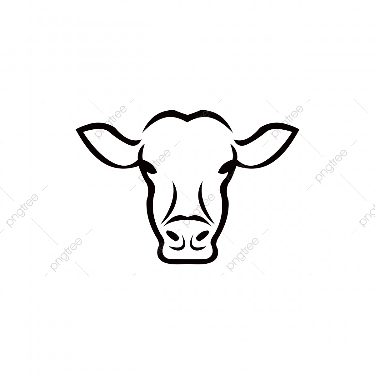 Cow Head Stylized Symbol, Cow Icons, Head Icons, Symbol Icons PNG and  Vector with Transparent Background for Free Download