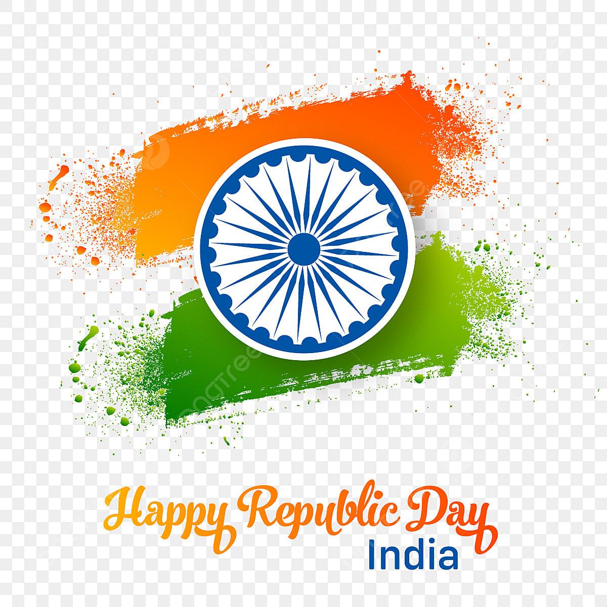 26 january image hd png creative  january happy republic day brush splash tricolor