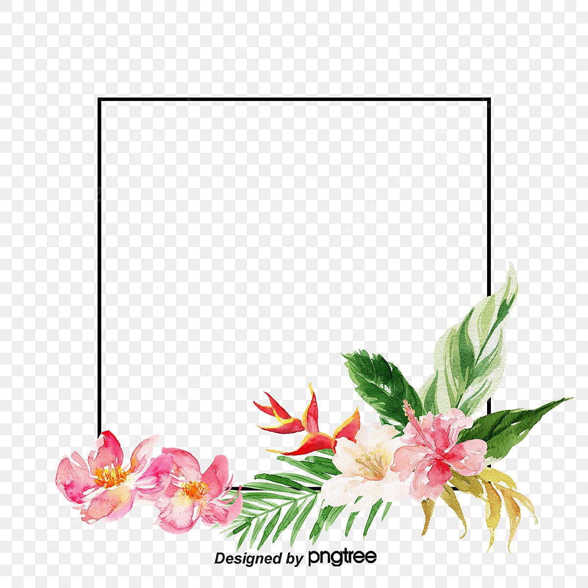 O Elemento Criativo Retro Flores Tropicais As Folhas Retro