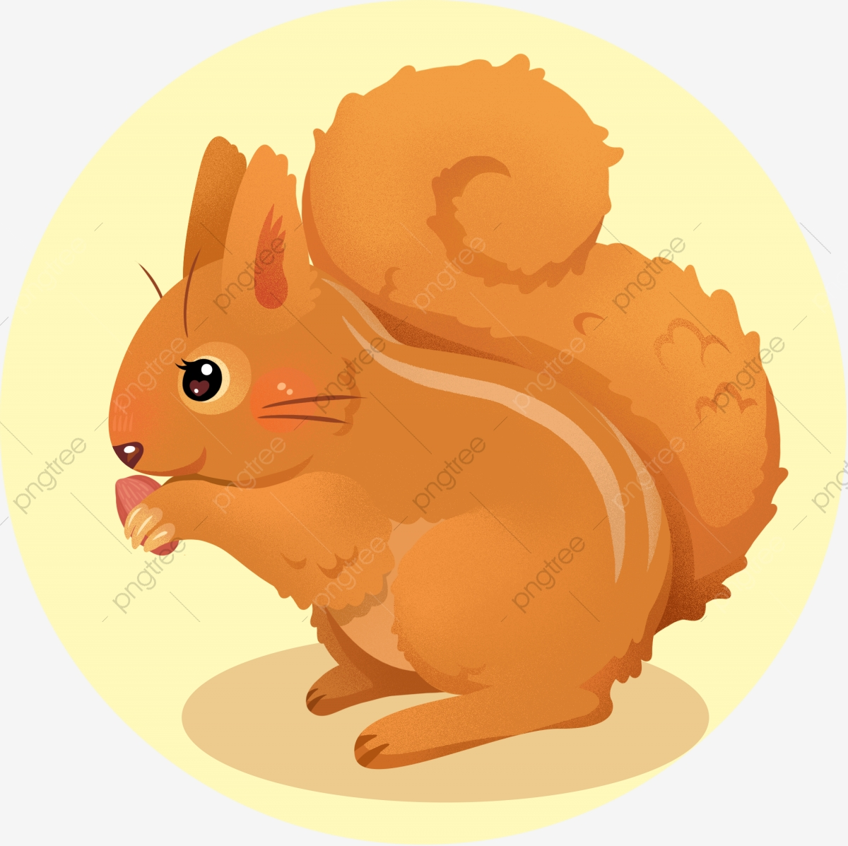 Cute Animal Little Squirrel Fall Vertical Autumn Mammal Cartoon Cute Cartoon Animal Squirrel Png Transparent Image And Clipart For Free Download