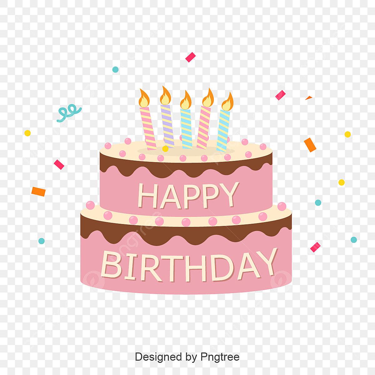 Cute Birthday Cake Logo Happy Children S Day Child