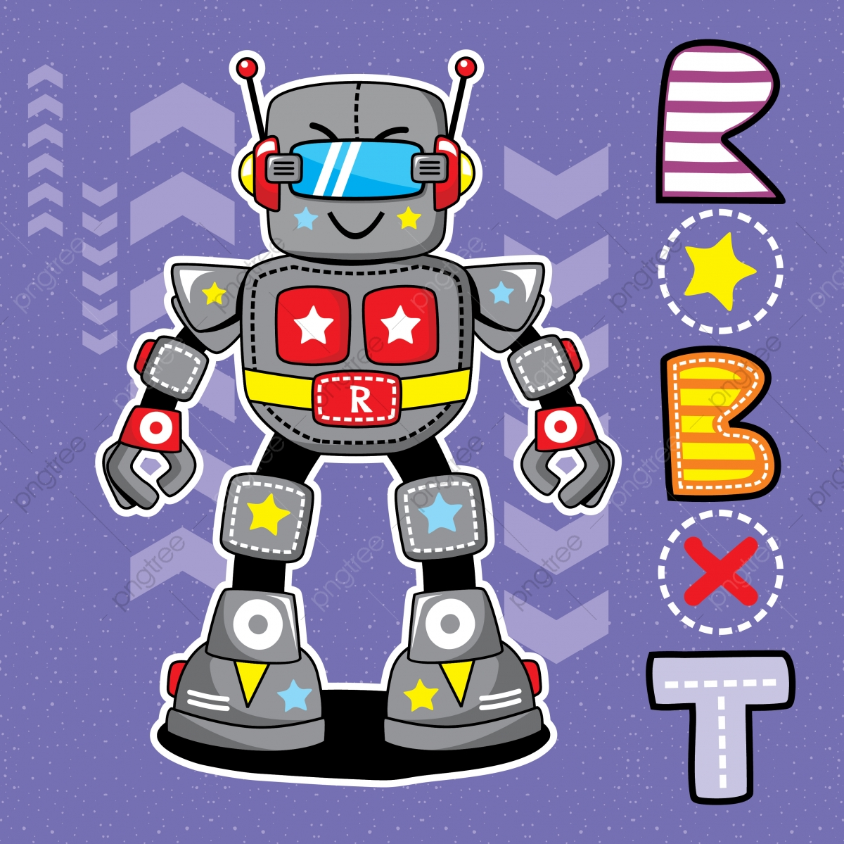 Cute Cartoon Robot Isolated Illustration Vector Design For ...