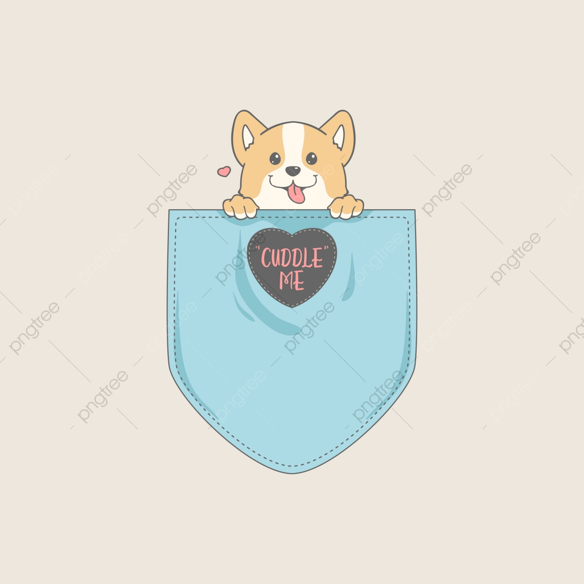 5c284120 Commercial use resource. Upgrade to Premium plan and get license  authorization.Upgrade Now · Cute corgi in pocket t-shirt.