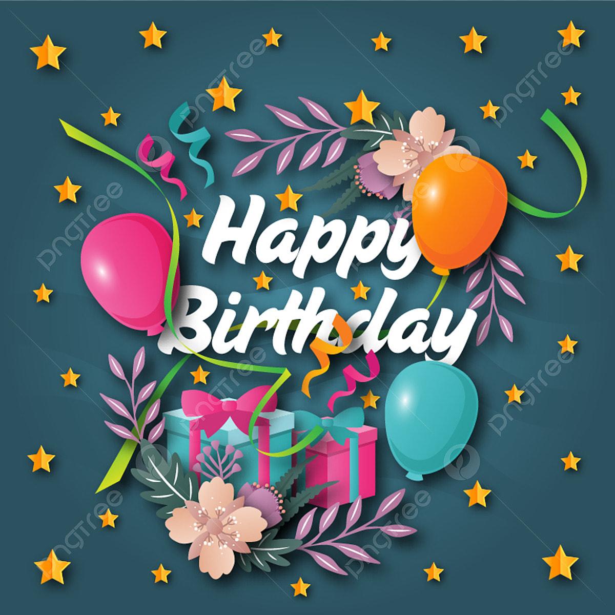かわいい幸せな誕生日グリーティングカードとバナーのイラスト 誕生日