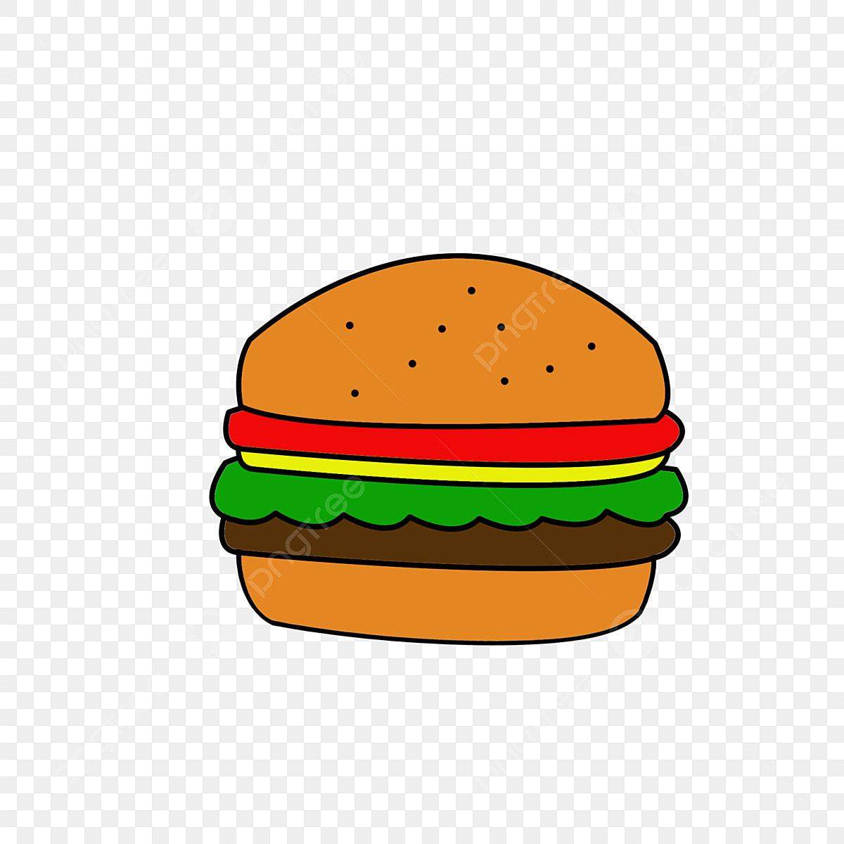 Hamburger De Dessin Animé Créatif Minimaliste Mignon Charmant Dessin Animé Créatif Fichier Png Et Psd Pour Le Téléchargement Libre