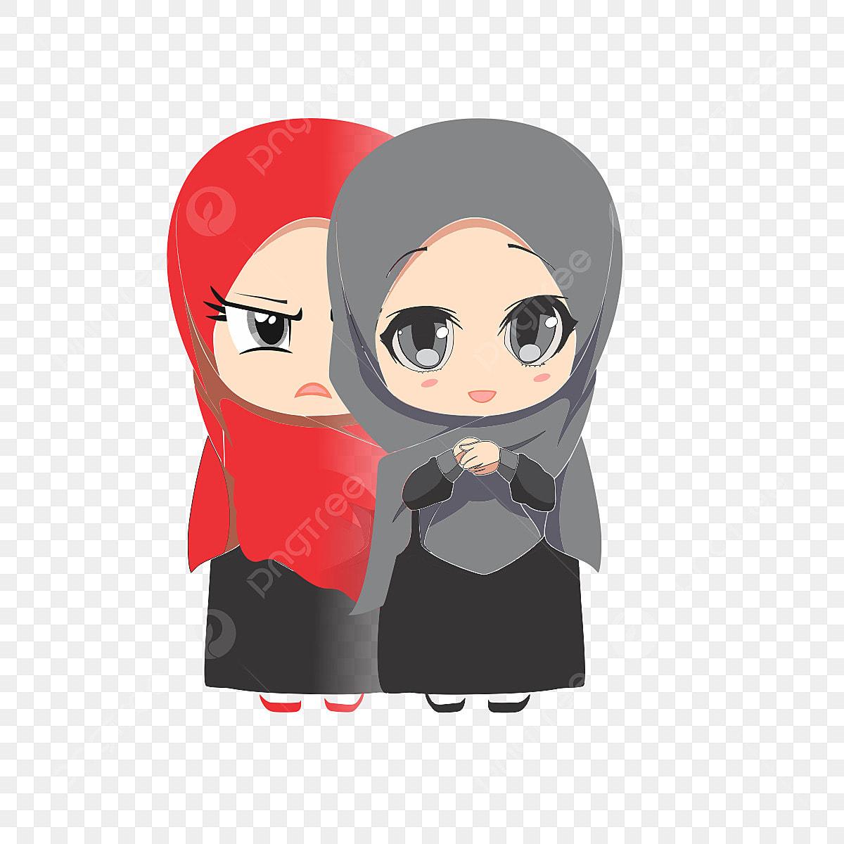 Gambar Gadis Kartun Muslim Islam Muslim Kedamaian Png Dan Clipart Untuk Muat Turun Percuma