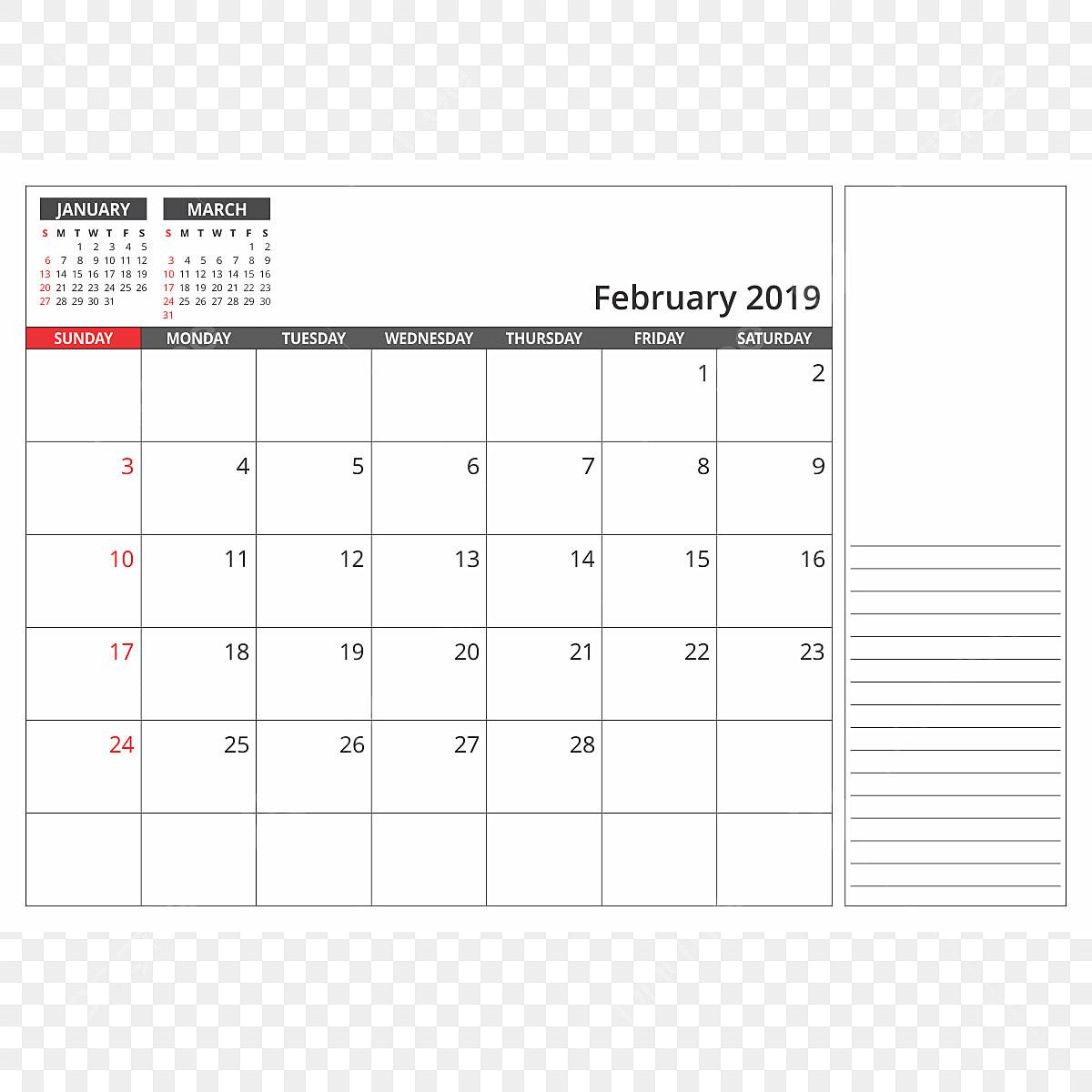 Calendario Febrero 2019.Calendario De Escritorio De Febrero De 2019 2019 Calendario Png