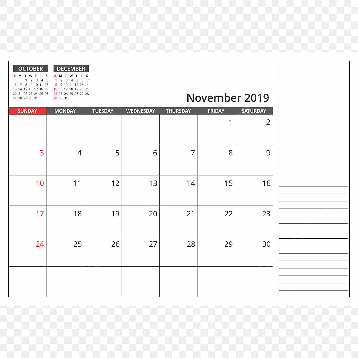 Calendario Noviembre 2019.Calendario De Escritorio De Noviembre De 2019 2019 Calendario Png
