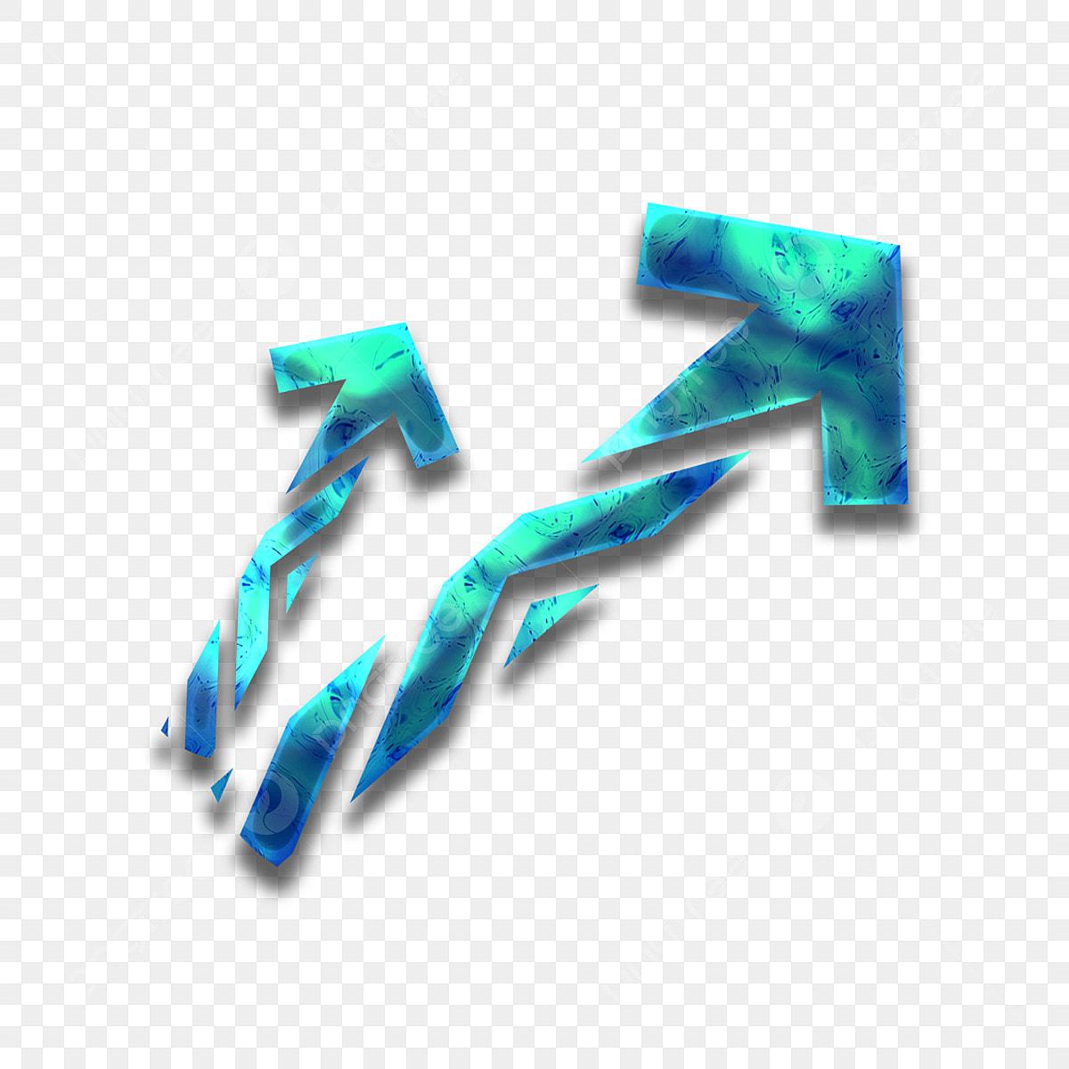 Dressing Blue Tech Arrow Pour éléments Commerciaux Flèche
