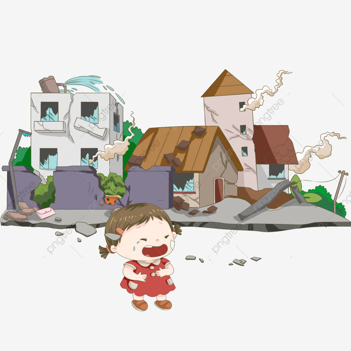 Maison En Ruine Dessin tremblement de terre effondrement de la maison maison peinte