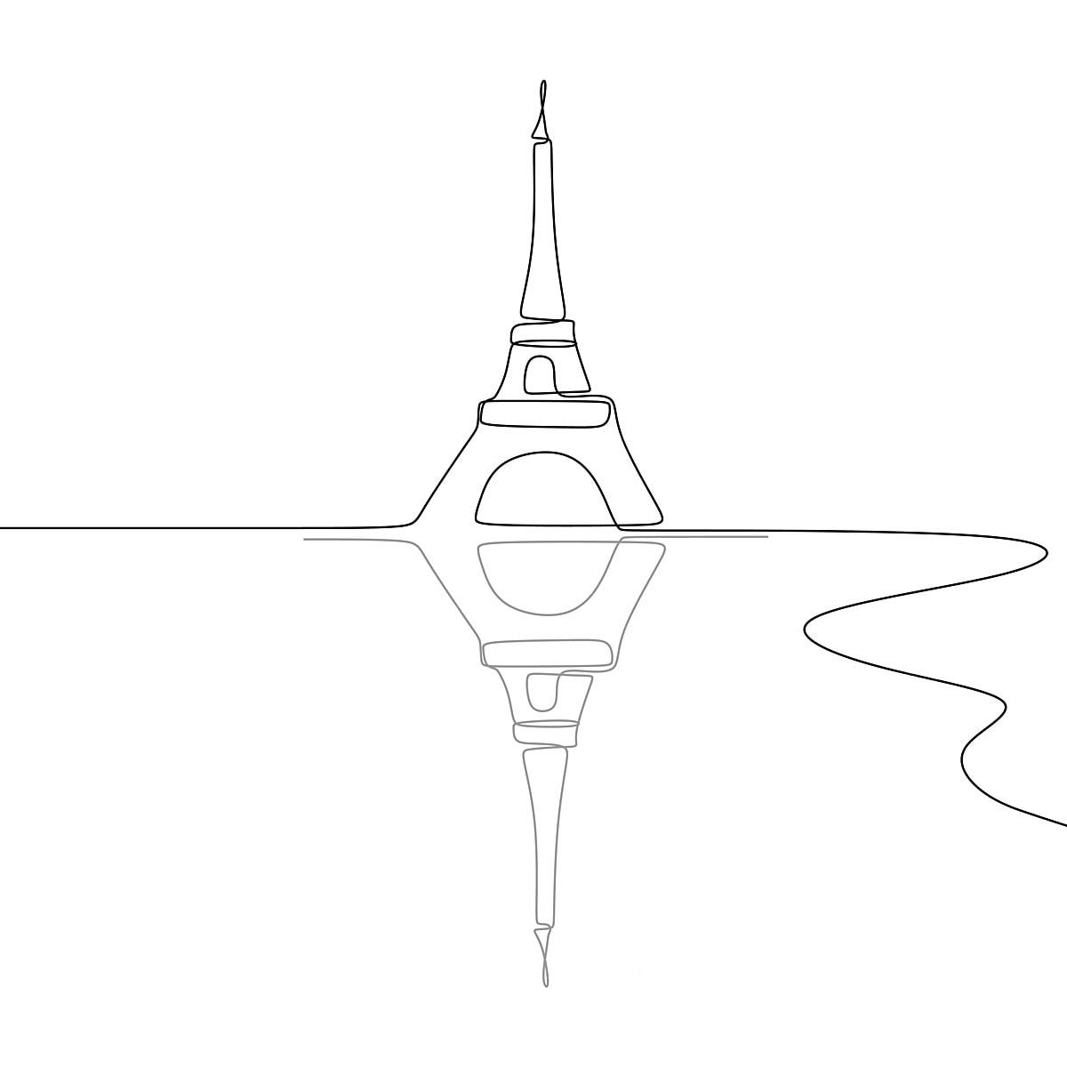 Gambar Menara Eiffel Hitam Dan Putih Tunggal Satu Garis Lukisan Vektor Ilustrasi Pembinaan Perancis Melukis Png Dan Vektor Untuk Muat Turun Percuma