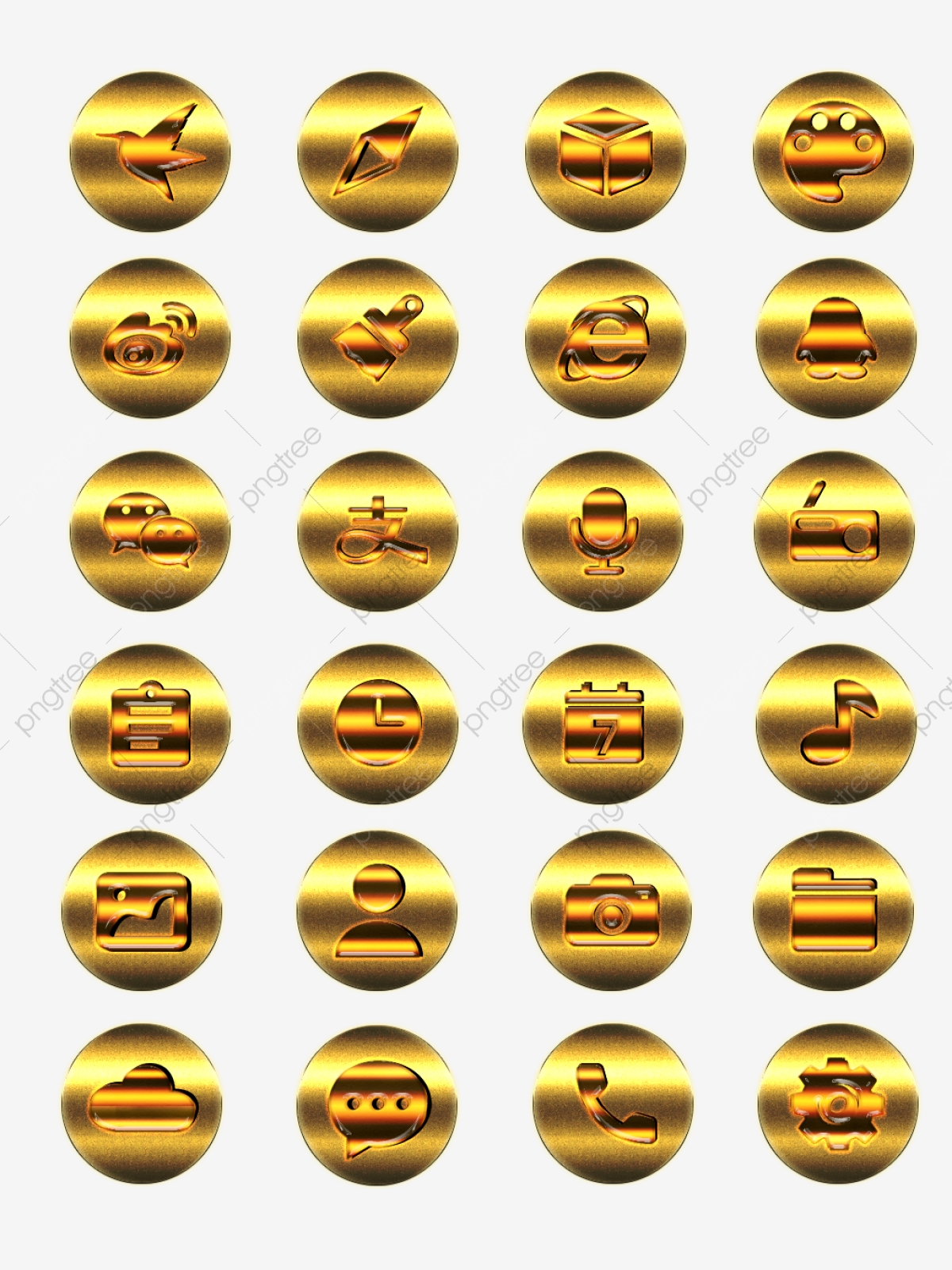 Element Tyrants Gold Mobile App Theme Icon, Gold, Mobile Phone