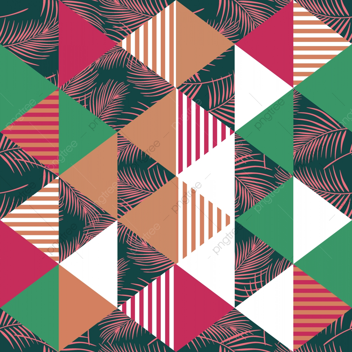 Exotic Trendy Seamless Pattern With Triangle Background