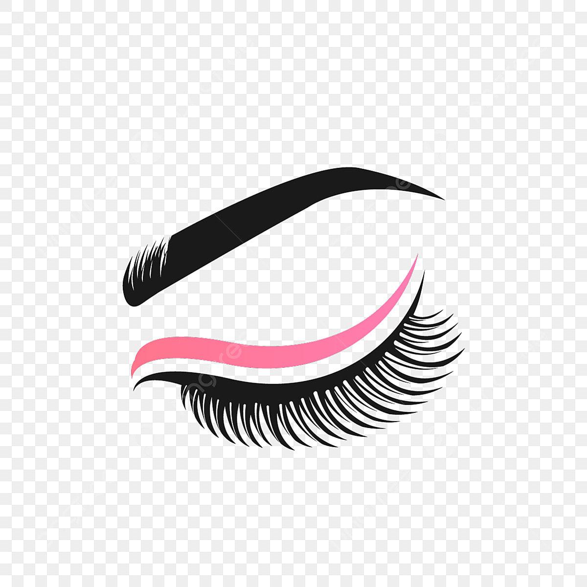 Eyelashes Logo Design Vector, Makeup