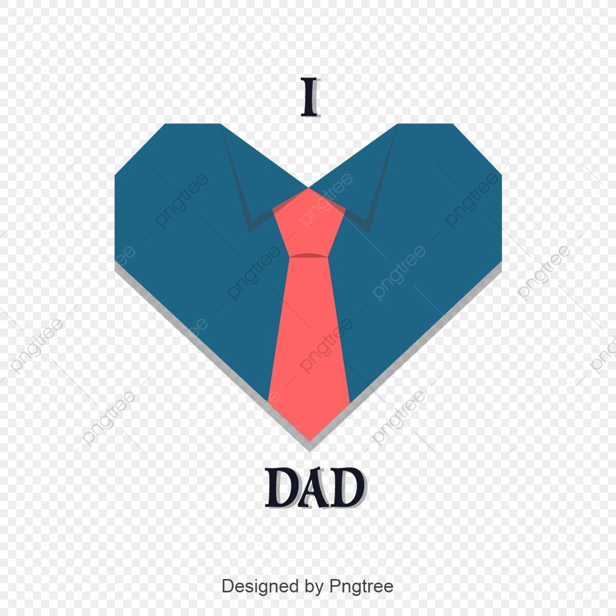 Fathers Day, Bow Tie, 蓝色心形衬衫 PNG and Vector with Transparent ...