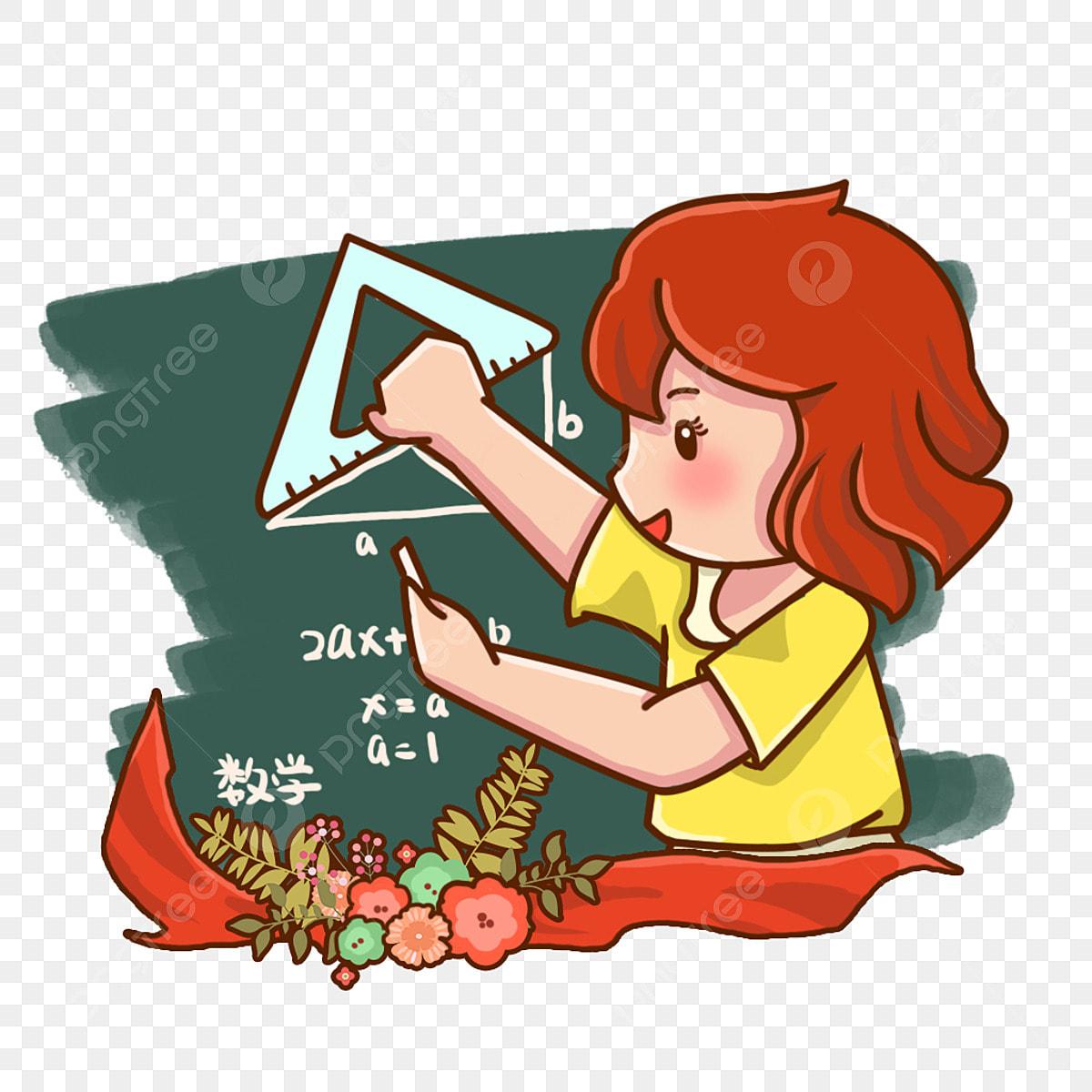 Guru Perempuan Matematik Pemerintah Yang Indah Guru Hari