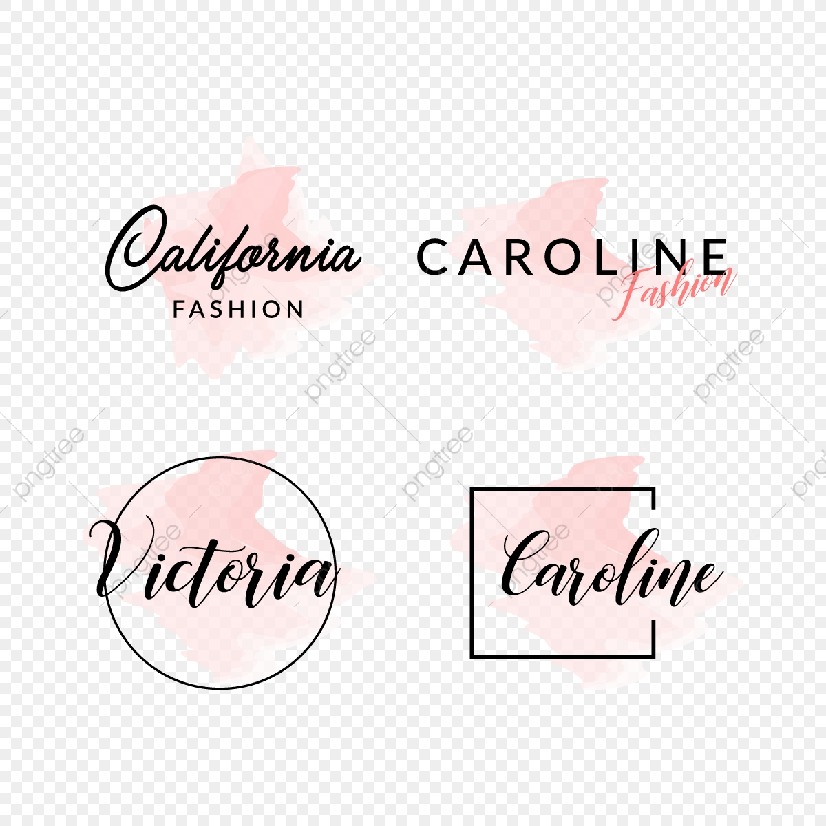 Feminine Fashion Logo Design Logo Feminine Set Png And Vector With Transparent Background For Free Download