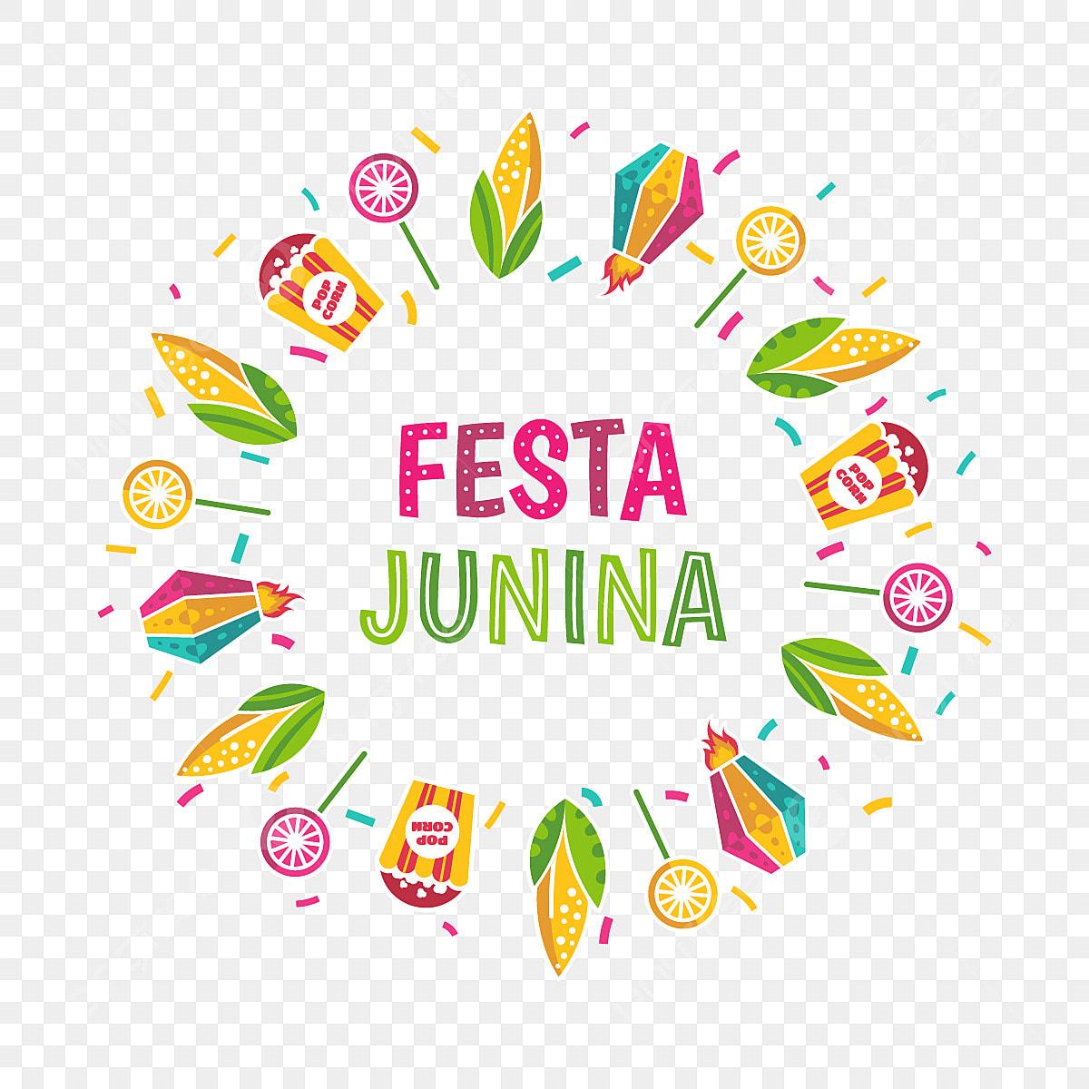 Festive Round Frame Design, Festa, Junina, June PNG and