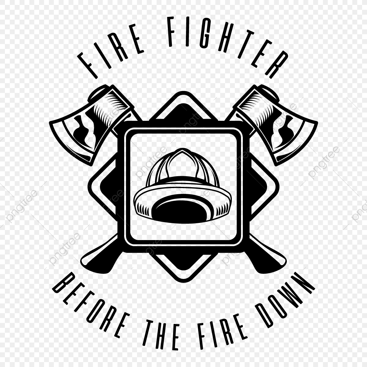 Fire Fighter Logo Illustration Fire Logo Fighter Png And