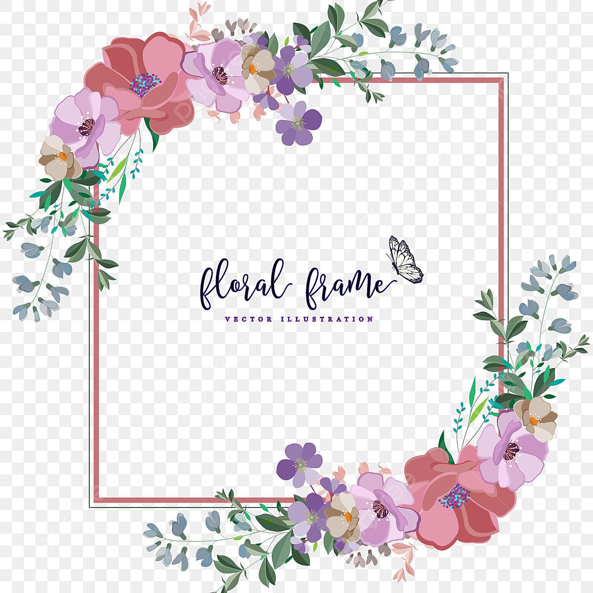 Floral Border Frame Beautiful Frame Flower Border Png And