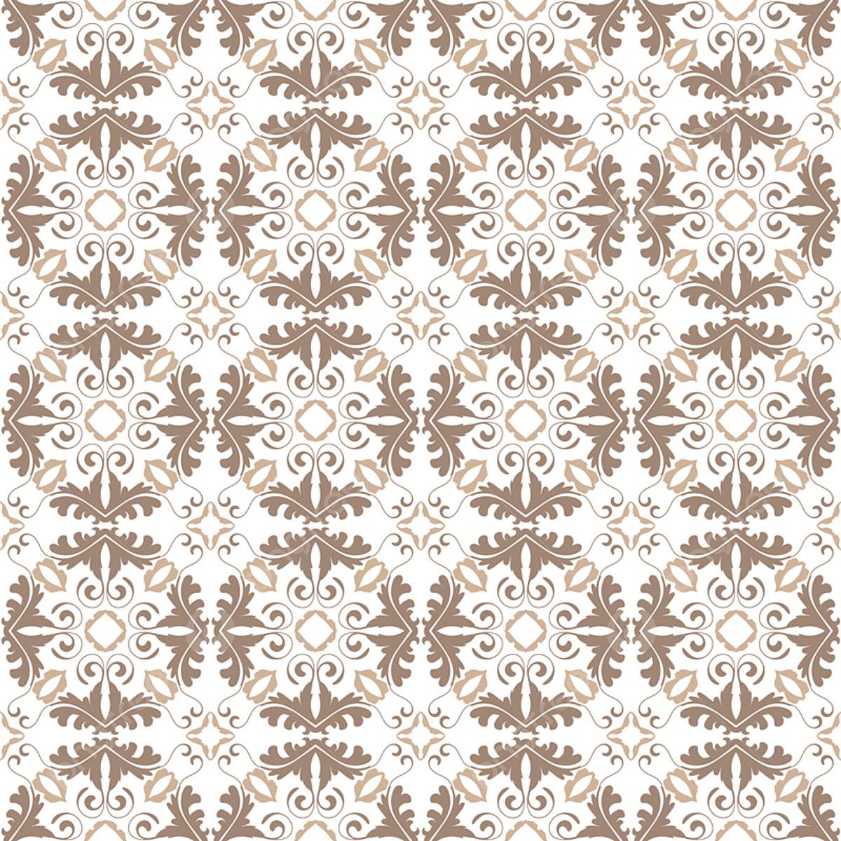Floral Pattern Wallpaper Baroque Damask Seamless Vector