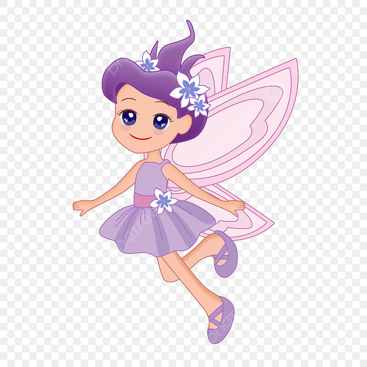 Flower Fairy Cartoon Flower Fairy Fantasy Creature Cute