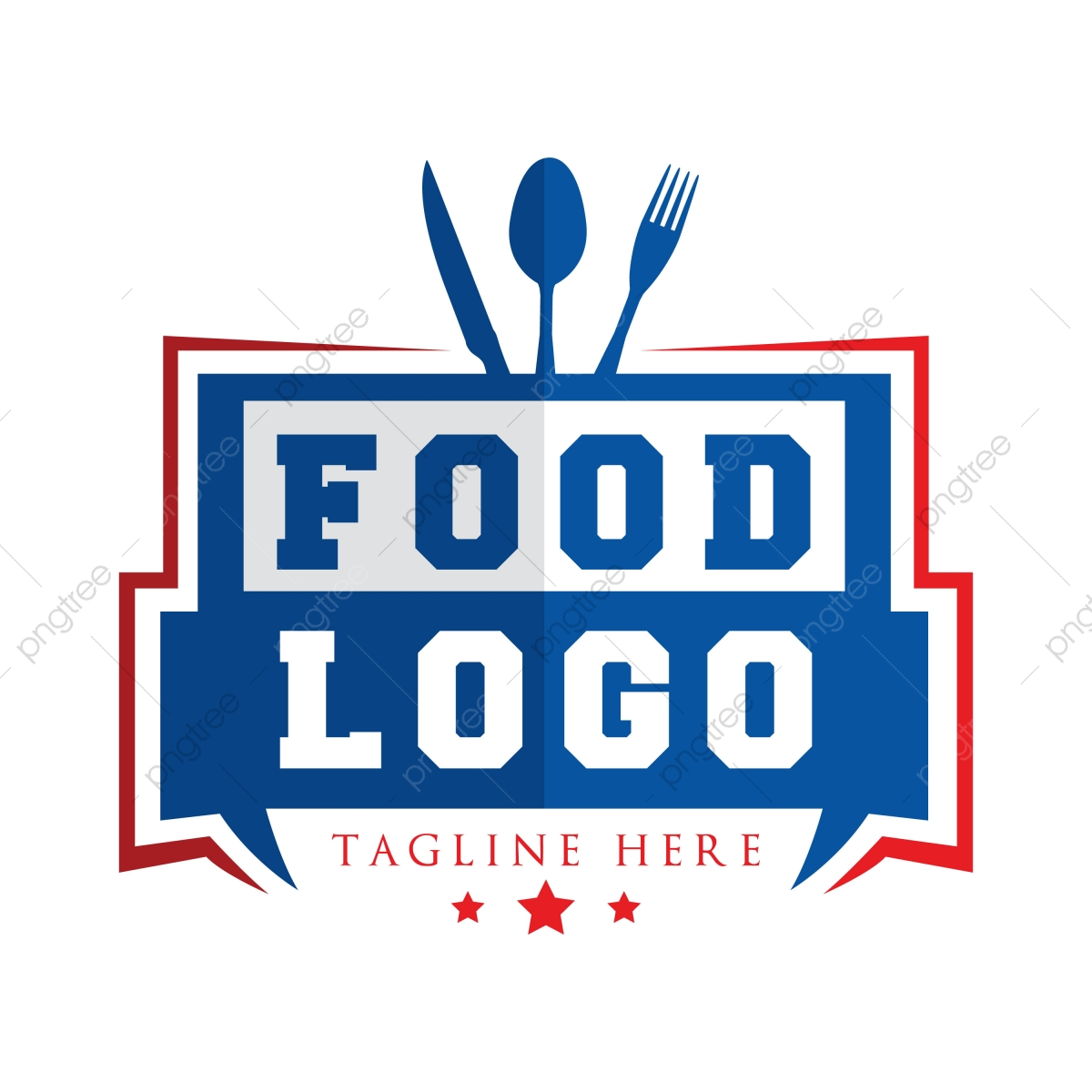 Diseno De Logotipos De Comida Resumen Azul Negocio Png Y Vector