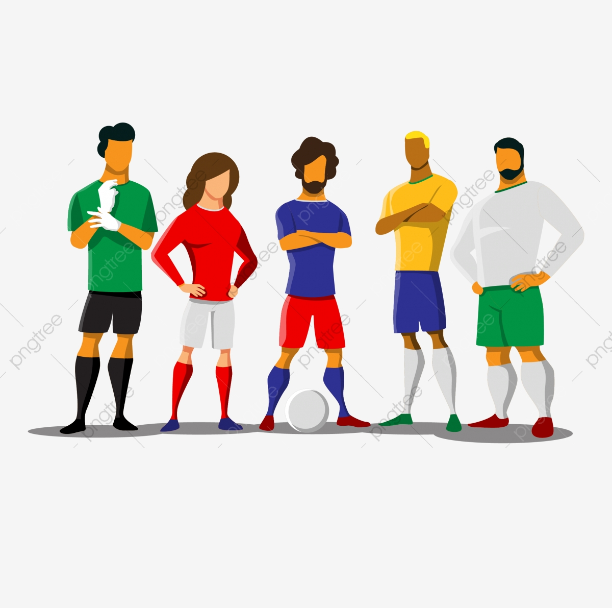 Football Football Team Team Physical Education Sports Team Cartoon Football Football Player Png And Vector With Transparent Background For Free Download