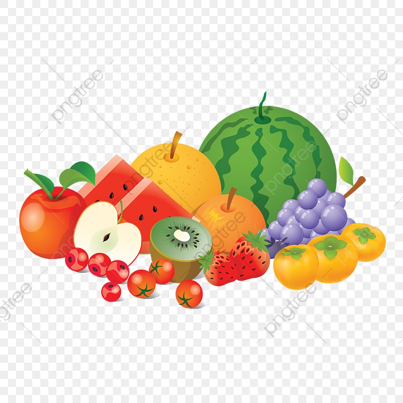 Fruit vector. Collection png fruits element