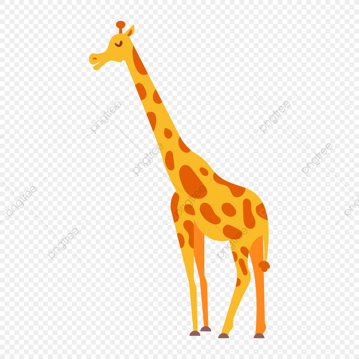 Girafa Dos Desenhos Animados Ilustracao Isolado Icon Png E