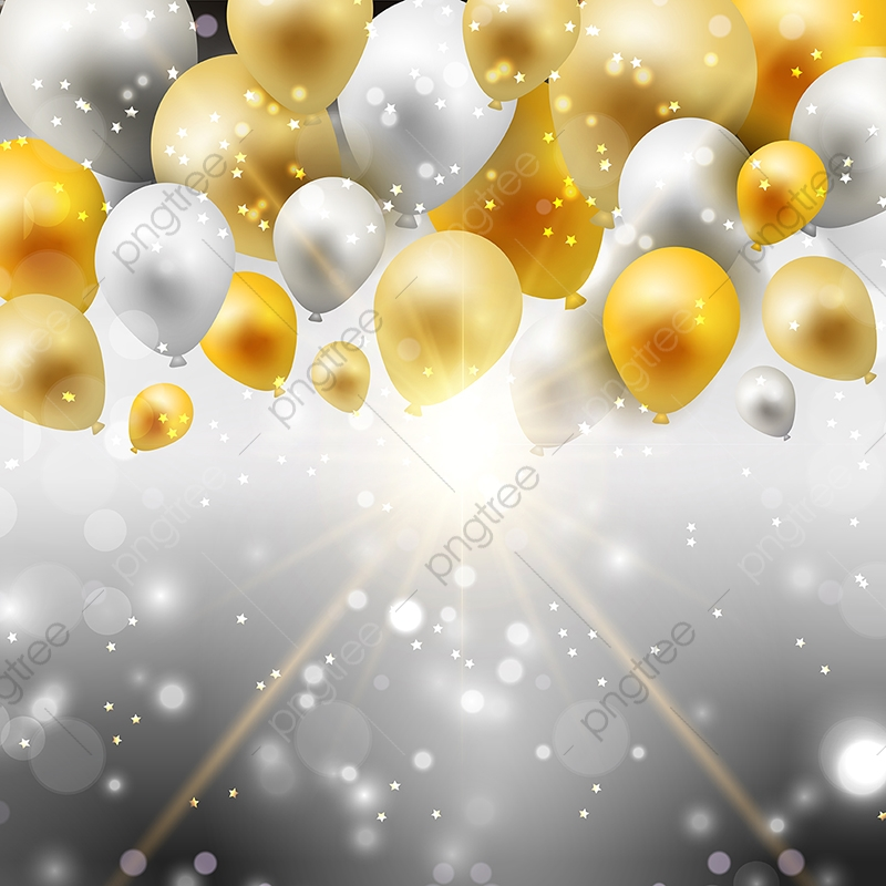 Gold And Silver Balloons 0307 Balloon Clipart Balloon Balloons Png And Vector With Transparent Background For Free Download