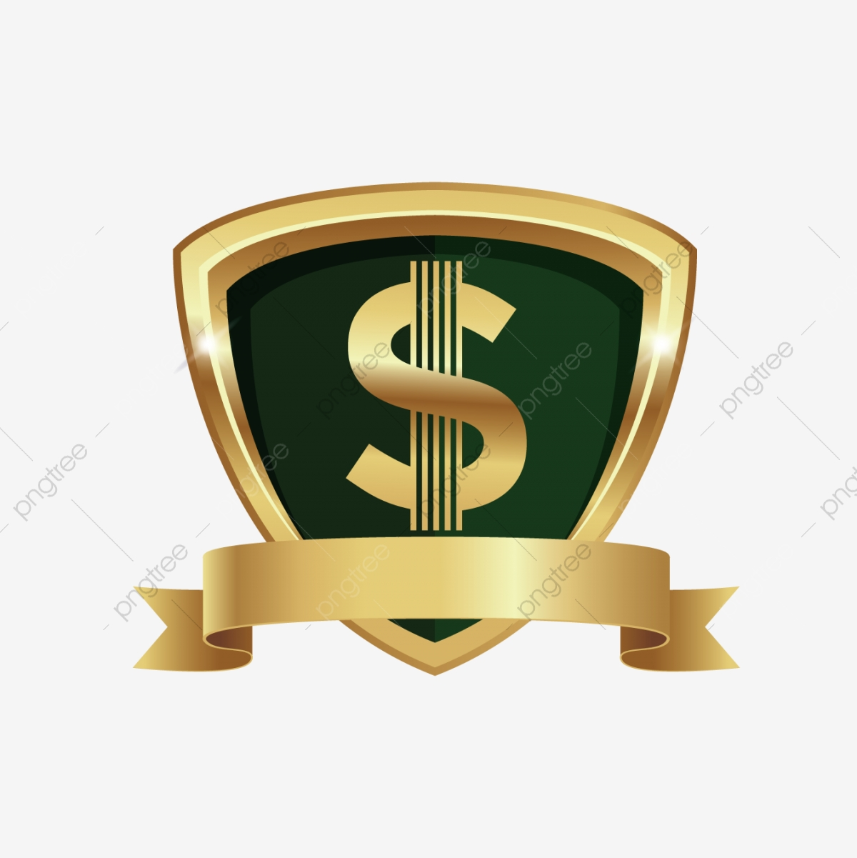 Gold Dollar Sign, Dollar, Green, Money PNG and Vector with