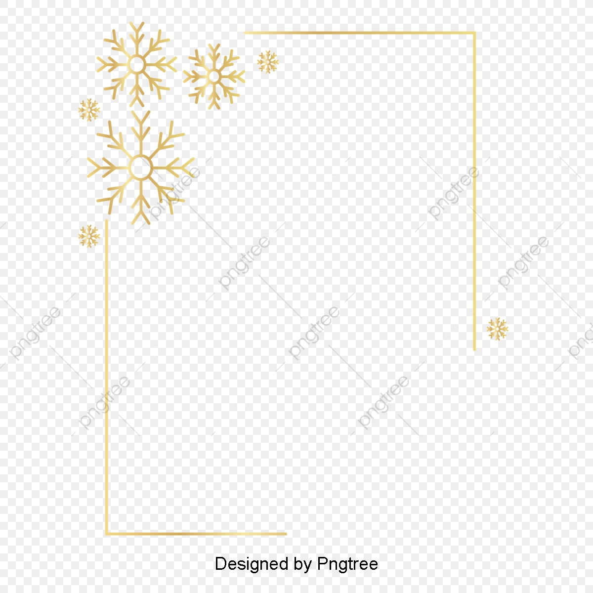 Flowery Frame 2 Clip Arts اطار ذهبي