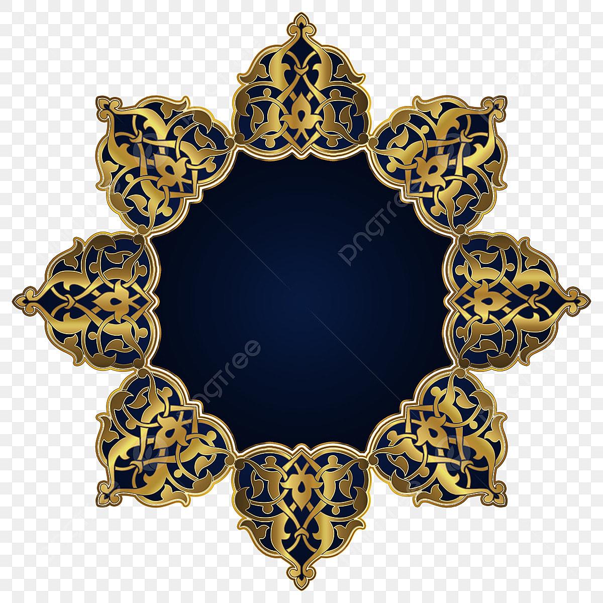 زخرفة إسلامية ذهبية اسلامية زخرفة الزخارف الاسلامية Png وملف