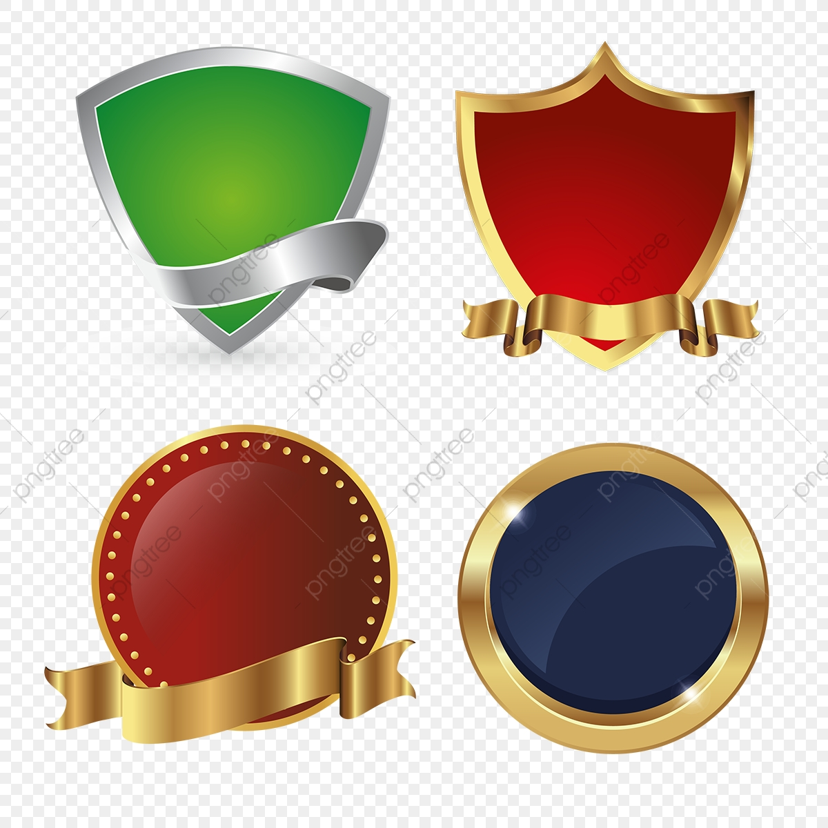 golden shields logo ic u00f4ne badges collection bouclier vecteur ic u00f4ne png et vecteur pour